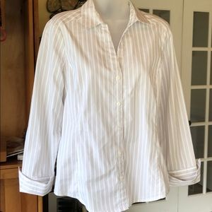 Ann Taylor Long Sleeve Blouse with Folded Cuffs